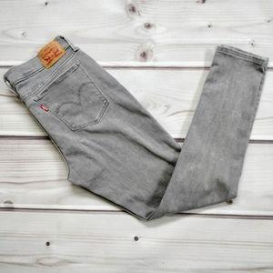 Levi's 710 Super Skinny Gray Denim Jeans